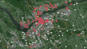 Interactive map locating construction projects in and around Ottawa/Gatineau.