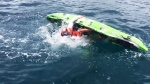 Aggressive shark capsizes fisherman's kayak