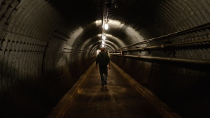 The main tunnel to the Diefenbunker, Canada's Cold War Museum, in Carp, Ont., on Wednesday, July 8, 2015. THE CANADIAN PRESS/Sean Kilpatrick