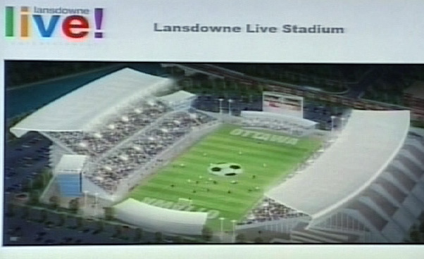 The Lansdowne Live proposal includes plans for a new sports stadium.