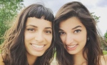 Alysha Brilla (left) poses with one of her sisters in this Facebook photo.