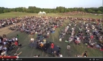This screenshot from YouTube shows Foo Fighter fans staging a concert in a plea for the band to play in Italy. (YouTube/Rockin' 1000)