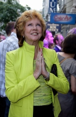 In this Tuesday, June 2, 2009 file photo, British TV presenter Cilla Black arrives for the opening night of the musical 'Sister Act' at the Palladium Theatre, in London. (AP / Joel Ryan)