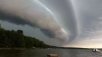 Giant storm cloud over Miller Lake in Tobermory, Ont., Sunday, Aug. 2, 2015. (Chris Bedwell / MyNews)