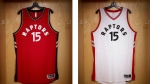 The Raptors unveiled their new uniforms on their website late Monday. (HO-Toronto Raptors / THE CANADIAN PRESS)