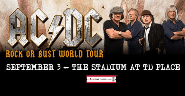 AC/DC's Rock or Bust World Tour at TD Place