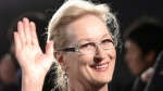 "In this Wednesday, March 4, 2015 file photo, Meryl Streep waves to photographers during the Japan premiere of ""Into the Woods"" in Tokyo. (AP / Shizuo Kambayashi)"
