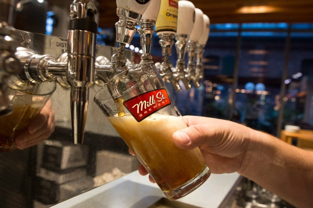 A pint of beer is poured in the Mill Street Brewery in Toronto on Friday, Oct. 9, 2015. (THE CANADIAN PRESS / Chris Young)