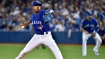 Toronto Blue Jays' pitcher Marcus Stroman pitches during the first inning of the ALDS against the Texas Rangers in Toronto, Friday, Oct. 9, 2015. (Nathan Denette / THE CANADIAN PRESS)