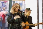 "In this image released by NBC, Adele performs on the ""Today"" show on Nov. 25, 2015, to promote her latest release, ""25."" (Heidi Gutman / NBC / via AP)"