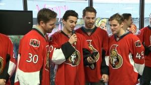 CTV Ottawa: Sens visit CHEO
