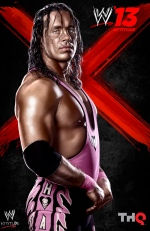 "The cover of the video game WWE 13, featureing Bret ""The Hitman"" Hart, is shown. (THE CANADIAN PRESS/HO, THQ)"