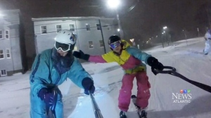 Haligonians snowboard through Halifax