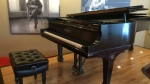 A piano once owned by Glenn Gould sits on display at the National Arts Centre in Ottawa, Feb. 11, 2016