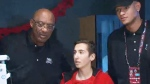 NBA legends visit sick children in Toronto