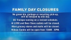 Open and Closed on Family Day