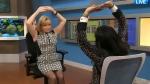 Chiropractor and rehab specialist Sapna Sriram demonstrates yawn stretching on CTV's Canada AM.