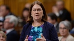 Minister of Health Jane Philpott responds to a question during question period in the House of Commons on Parliament Hill in Ottawa on Thursday, April 14, 2016. (Sean Kilpatrick / THE CANADIAN PRESS)