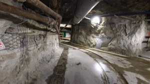 An underground uranium mine owned by Cameco, is shown on Wednesday, Sept. 23, 2015. (THE CANADIAN PRESS/Liam Richards)