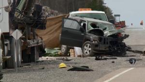 Crash scene near Arnprior