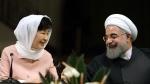 Iranian President Hassan Rouhani, right, and South Korean President Park Geun-hye, at the Saadabad Palace in Tehran, Iran, on May 2, 2016. (Ebrahim Noroozi / AP)