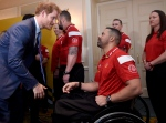 Prince Harry meets with Canadian athletes during his visit to Toronto to promote the 2017 Invictus Games, which the city will be hosting, on Monday, May 2, 2016. THE CANADIAN PRESS/Nathan Denette
