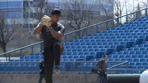 Baseball players chasing dreams