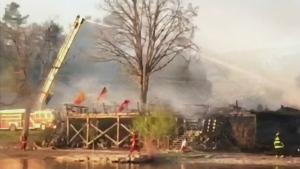 CTV Ottawa: Fire at Esprit Rafting Adventures
