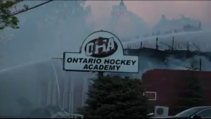 Fire at Ontario Hockey Academy