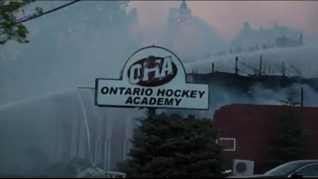 Fire at Ontario Hockey Academy