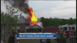 CTV Ottawa: Hockey school in Cornwall destroyed