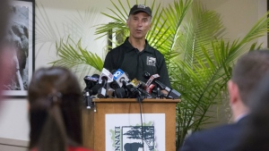 Thane Maynard, director of the Cincinnati Zoo and Botanical Garden, speaks during a news conference about the shooting of a gorilla in Cincinnati on Monday, May 30, 2016. (AP / John Minchillo)