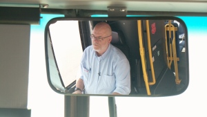 OC Transpo driver Alain Charette at the wheel.