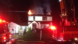 Fire rips through empty house on Falaise Road (Jim Kennelly)