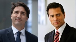 Justin Trudeau and Enrique Pena Nieto in a side-by-side photo (CP)