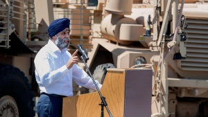 Defence Minister Harjit Sajjan at CFB Gagetown in Oromocto, N.B. on June 27, 2016. (Andrew Vaughan / THE CANADIAN PRESS)