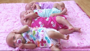 The four Webb quadruplets: Grace, Emily, McKayla and Abigail