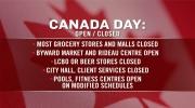 Canada Day Schedule