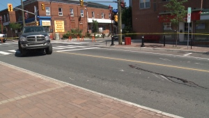 A pedestrian was rushed to hospital in critical condition after being struck at Somerset and Rochester Street.