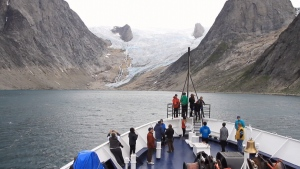 Students tour the Arctic in 2015. Source: Students on Ice