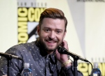 Justin Timberlake attends the 'Trolls' panel on day 1 of Comic-Con International in San Diego on Thursday, July 21, 2016. (Chris Pizzello / Invision)