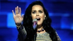 Singer Katy Perry performs during the final day of the Democratic National Convention in Philadelphia, Thursday, July 28, 2016. (AP /Matt Rourke)