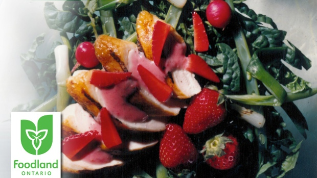 Strawberry, Chicken and Spinach Salad