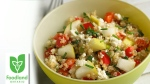 Quinoa Salad with Pears, Feta and Herbs