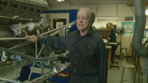 Ottawa's Ted Devey works on a project to restore historic aircraft at Canada's aviation museum, staying young by keeping engaged.