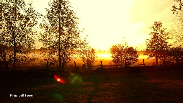 Sun rise in Smiths Falls, Ont. (Jeff Bower/CTV Viewer)