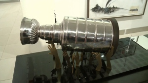 One of the finalists' designs in a competition to design a permanent Stanley Cup monument at Elgin and Sparks St. in Ottawa to be unveiled December 2017.