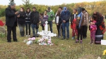 Family and friends gathered for a memorial walk and graveside service to remember Melanie Dawn Geddes on Saturday. She was last seen at a house party a short walk from her Regina home in November of 2005.