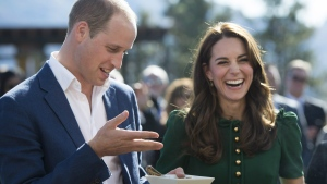 The Duke and Duchess of Cambridge take part in the taste of British Columbia at Mission Hill Winery in Kelowna, B.C., Tuesday, Sept 27, 2016. THE CANADIAN PRESS/Jonathan Hayward