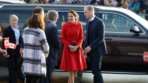 Prince William and his wife Kate, the Duke and Duchess of Cambridge, arrive to tour the MacBride Museum of Yukon History in Whitehorse, Yukon, Wednesday, Sept. 28, 2016. (THE CANADIAN PRESS/Jonathan Hayward)